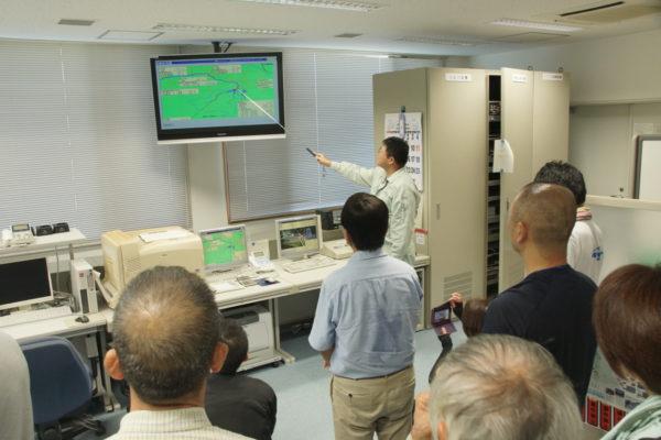 ダム管理施設の見学(福岡県藤波ダム)