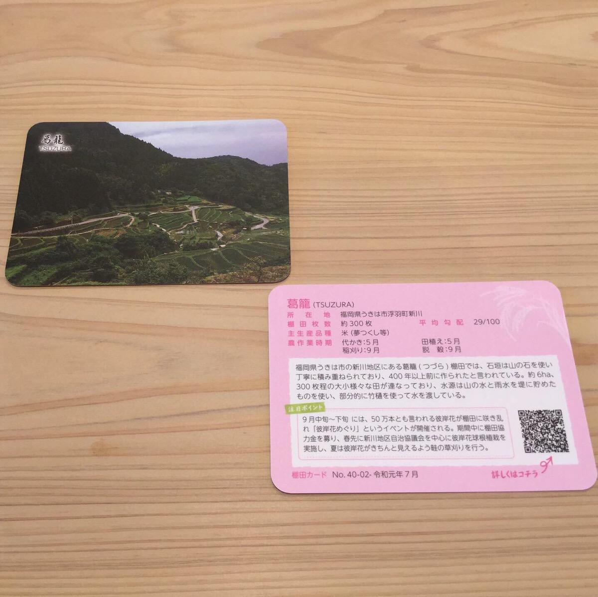 棚田カード無料配布中です!!